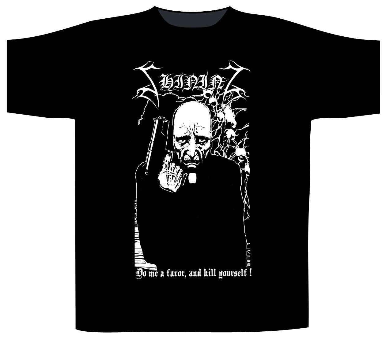 Shining Do Me A Favor Shirt S 3XL Official Tshirt Black Metal Band T Shirt Men Tops Short Sleeve Cotton Fitness T Shirts