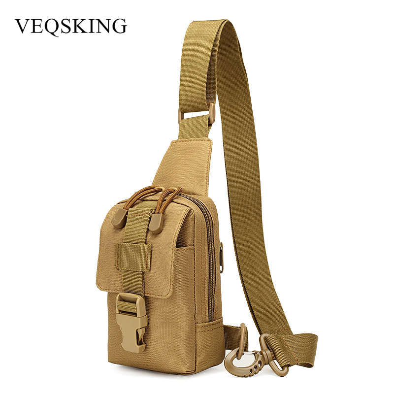 Camping & Hiking Outdoor 10 Inches Nylon Waterproof Shoulder Bag Cross Body Bag Belt Sling Messenger Bags Tactical Military Camouflage Handbag Warm And Windproof