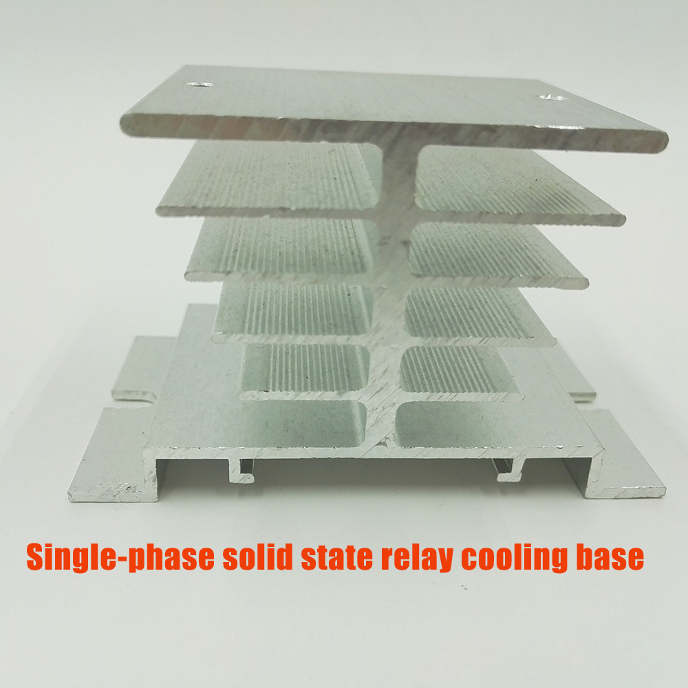 Single-phase aluminum solid state relay Heat sink radiator cooling base solid special heat dissipation <font><b>SSR</b></font> <font><b>40DA</b></font> 80DA image