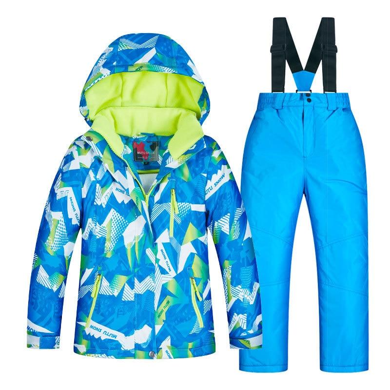 Ski Suit Baby Boy Girl Clothes Warm Waterproof Windproof Snowboard Sets Winter Jacket Kids Clothes Children Te Waahi Hiko