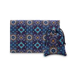 Vintage national style briefcases for men women canvas felt laptop sleeve bag for mac 11.6″ 12″ 13.3″ Pro AIR Retina