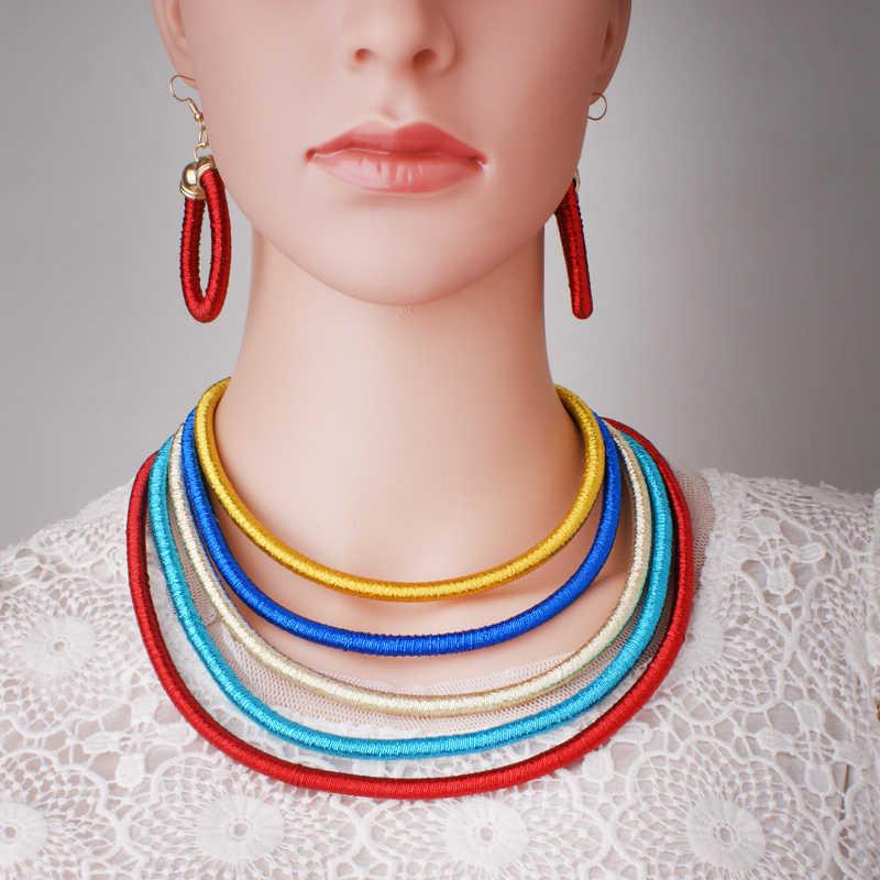 5 צבע סט 2017 תכשיטי חרוזים אופנה אפריקאים חתונה ניגריה אבזם מגנט קולר שרשרת הצהרת עגילי סט לנשים