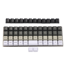 YMDK Planck Niu40 Preonic Keyset White Gray Black Gradient Pure White Laser Etched OEM Keycap 1.5mm Thickness PBT