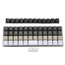 YMDK Planck Niu40 Preonic Keyset beyaz gri siyah degrade saf beyaz lazer kazınmış OEM klavye tuş takımı 1.5mm kalınlığında PBT
