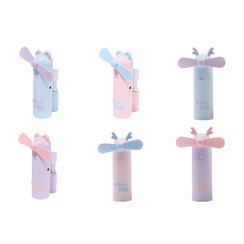 New Handheld Mini Fan Portable Misting USB Rechargeable Personality for Indoor Outdoor Traveling