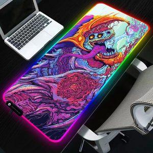 Image 1 - Sovawin 800x300 Big Large LED RGB Lighting Gaming Mousepad XL Gamer Mat Grande Mouse Pad cs go Hyper Beast for PC Computer