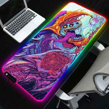 Sovawin 800x300 Big Large LED RGB Lighting Gaming Mousepad XL Gamer Mat Grande Mouse Pad cs go Hyper Beast for PC Computer - DISCOUNT ITEM  27% OFF All Category