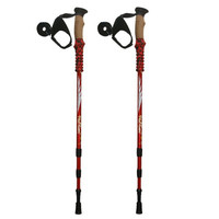Free Shipping 7075 Aluminium Alloy Ultralight Adjustable Alpenstock Trekking Hiking Stick Retractable Anti Shock Walking Stick