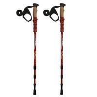 Anti Shock Nordic Walking Sticks Telescopic Trekking,Hiking Poles Climbing Ultralight Walking Canes With EVA Cork Handle 1 Pair