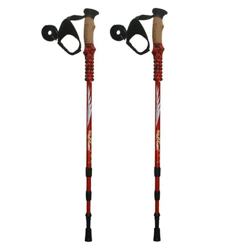 Anti Shock Nordic Walking <font><b>Sticks</b></font> Telescopic Trekking,Hiking Poles Climbing Ultralight Walking Canes With EVA Cork Handle 1 Pair