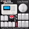 New Wireless PSTN GSM SMS Alarm LCD Display Burglar Home Alarm System Fire Alarm Smoke Detector