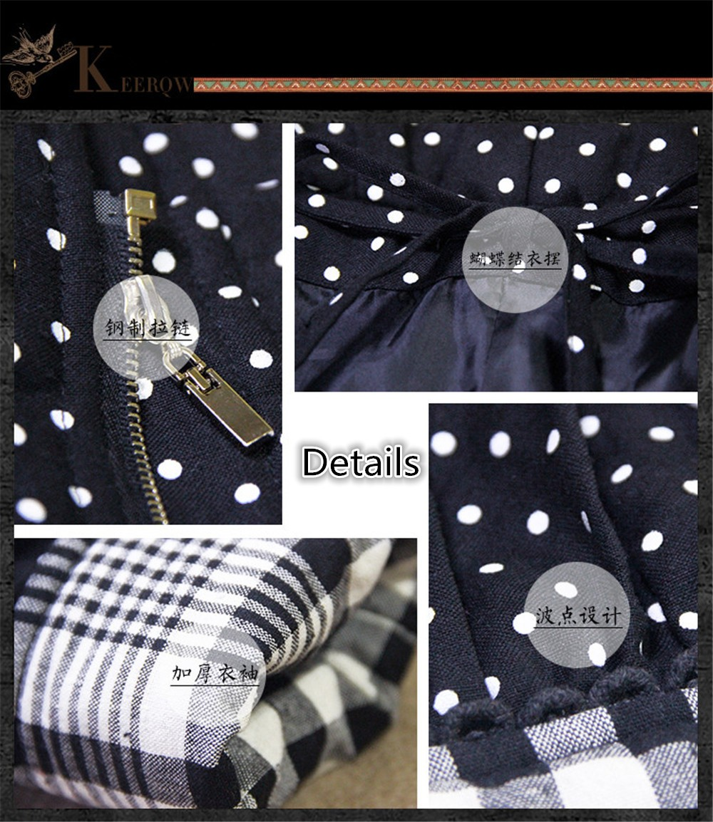 Vintage Thick Winter Women Hooded Coat 80% Cotton Polka Dot Patchwork Thicken Women Coats Warm Cotton Parka Linen Jacket Women (13)