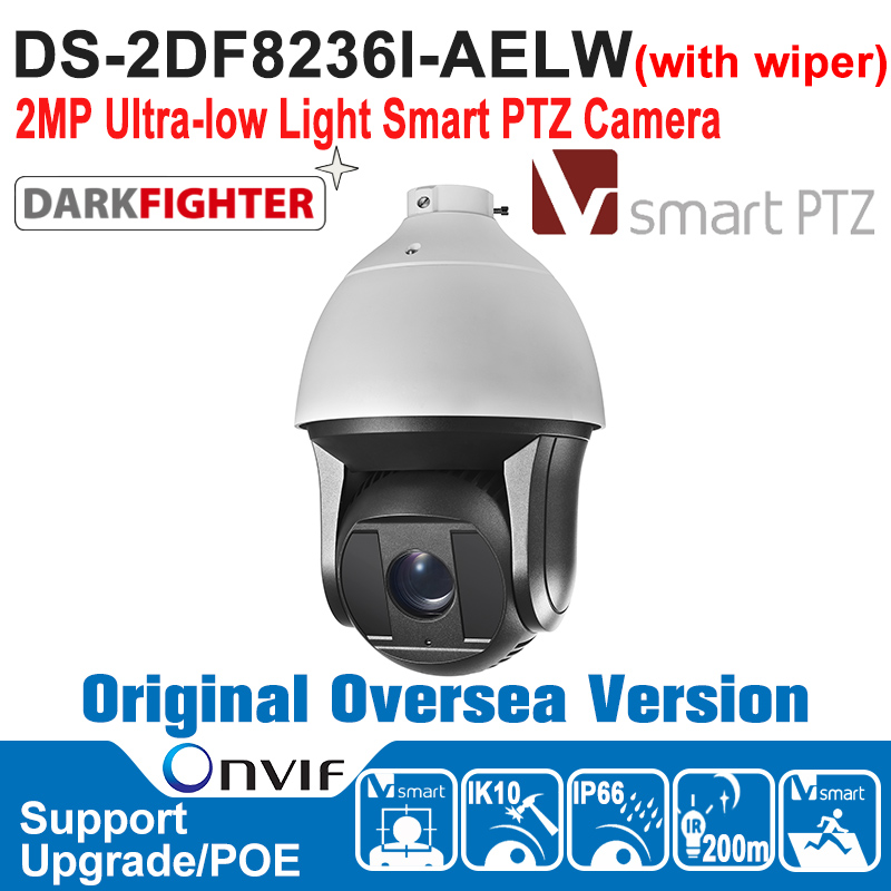 NEW DS-2DF8236I-AELW HIK PTZ Camera 2MP Full HD Ultra-low Light Smart PTZ Camera Outdoor 1080P Hi-PoE IK10 CCTV Camera new products ultra low leakage current faraday capacitor 2 7v3000f 2 7v1200f 2 5v700 specifications 60x130
