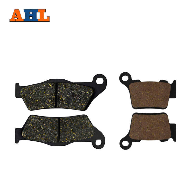 AHL Motorcycle Front And Rear Brake Pads For KTM XC EXC 400 / 450 / 525 2004-2007 EXC 500 (12-16) Black Brake Disc Pad motorcycle front and rear brake pads for honda vt250fl spada castel 1988 1990