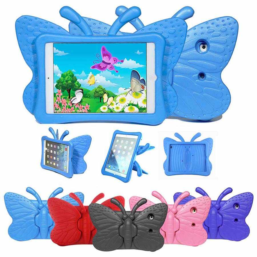 Kids Children Shockproof Case for iPad Mini 1 2 3 4 Butterfly Shape Safe EVA Foam Protect Case Tablet Stand Cover for iPad mini