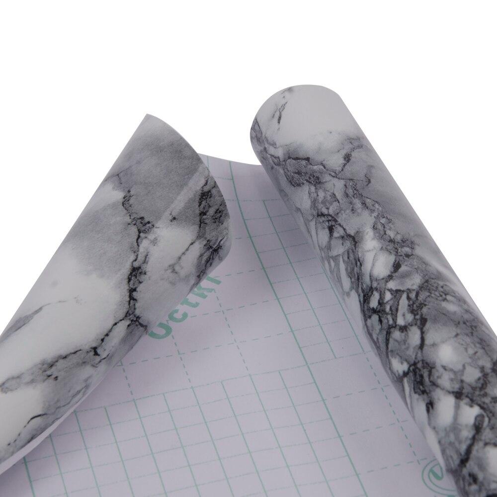 HOHOFILM 1.22x50m calcomanía de acabado mármol envoltura de vinilo brillante para el hogar Mesa muebles oficina pegatina vinilo 48''x164ft - 5