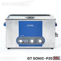 GT SONIC P20 ультразвуковой чистого отопления таймер Регулируемый Мощность Сталь Нержавеющаясталь 110 В/220 В часы Ванная комната ювелирные издел