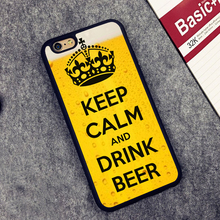 """""""Keep Calm And Drink Beer"""" case for iPhone 6 6S Plus 7 7 Plus 5 5S 5C SE 4 4S"""