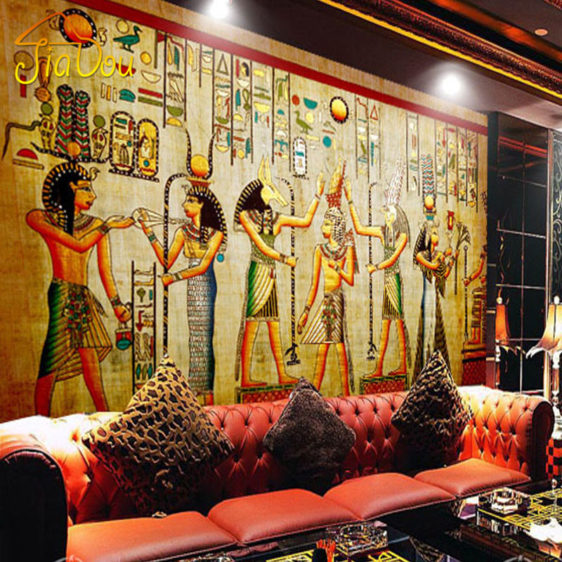 Custom Photo Wallpaper High Quality Modern Luxury 3D Wallpaper Wall Mural Papel De Parede Home Decor Egyptian Murals Pintado