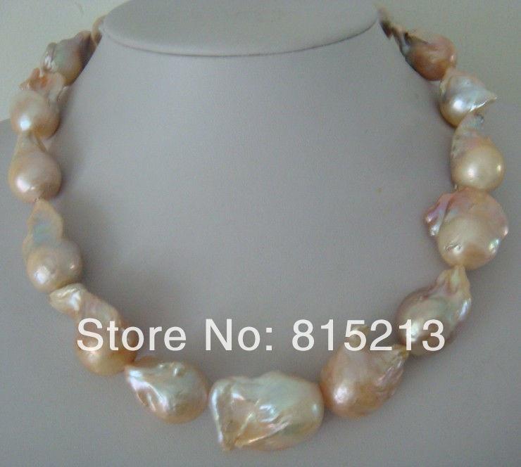 Ddh001189 naturel du sud mer lumière rose perle collier
