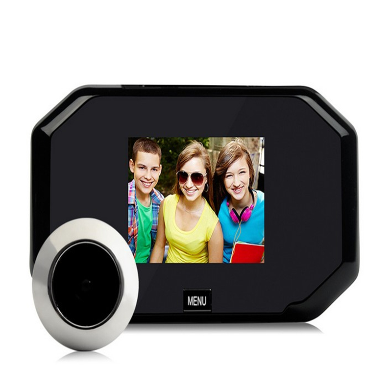 DANMINI 3.0 LCD Color Screen Electronic Doorbell 145 Degree Peephole Viewer Video Doorbell Video Record Digital Door Camera цена