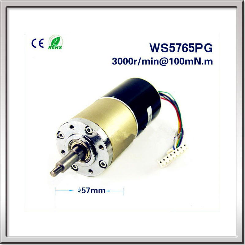 FREE SHIPPING 12V/24V 32W 100mN.m 1.6A 57mm DC Gear Motor Customized Brushless DC Planetary gear reduction motor Gear box motor free shipping 1000w 36v dc brushless