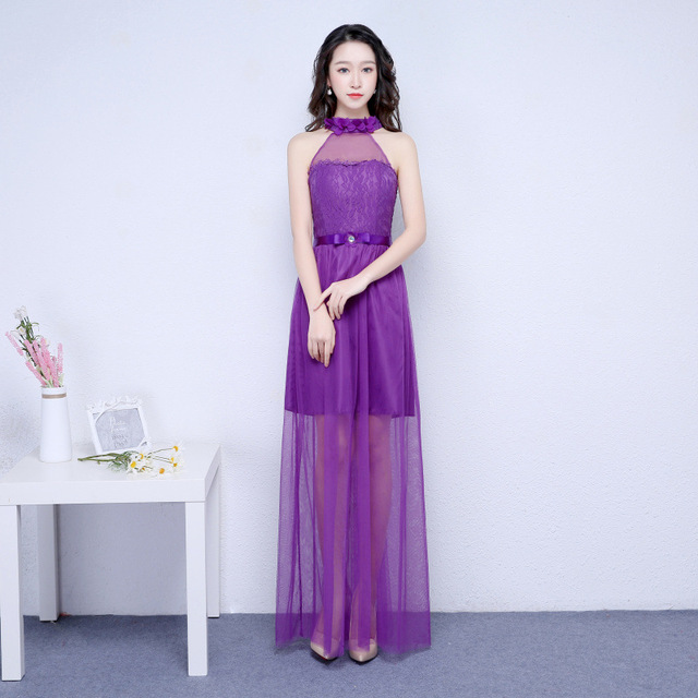 US $36.11 |Purple bridesmaid dresses long for wedding guests sister party  formal dress plus size dress prom dresses real photo ROM80103-in Bridesmaid  ...