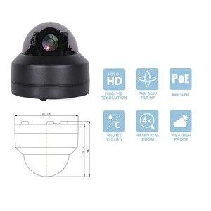 Image 2 - Waterproof 2MP 4MP PTZ IP Camera Mini 4X Zoom Indoor Outdoor 1920*1080P Home Security Network IR CCTV POE Camera ONVIF 30M