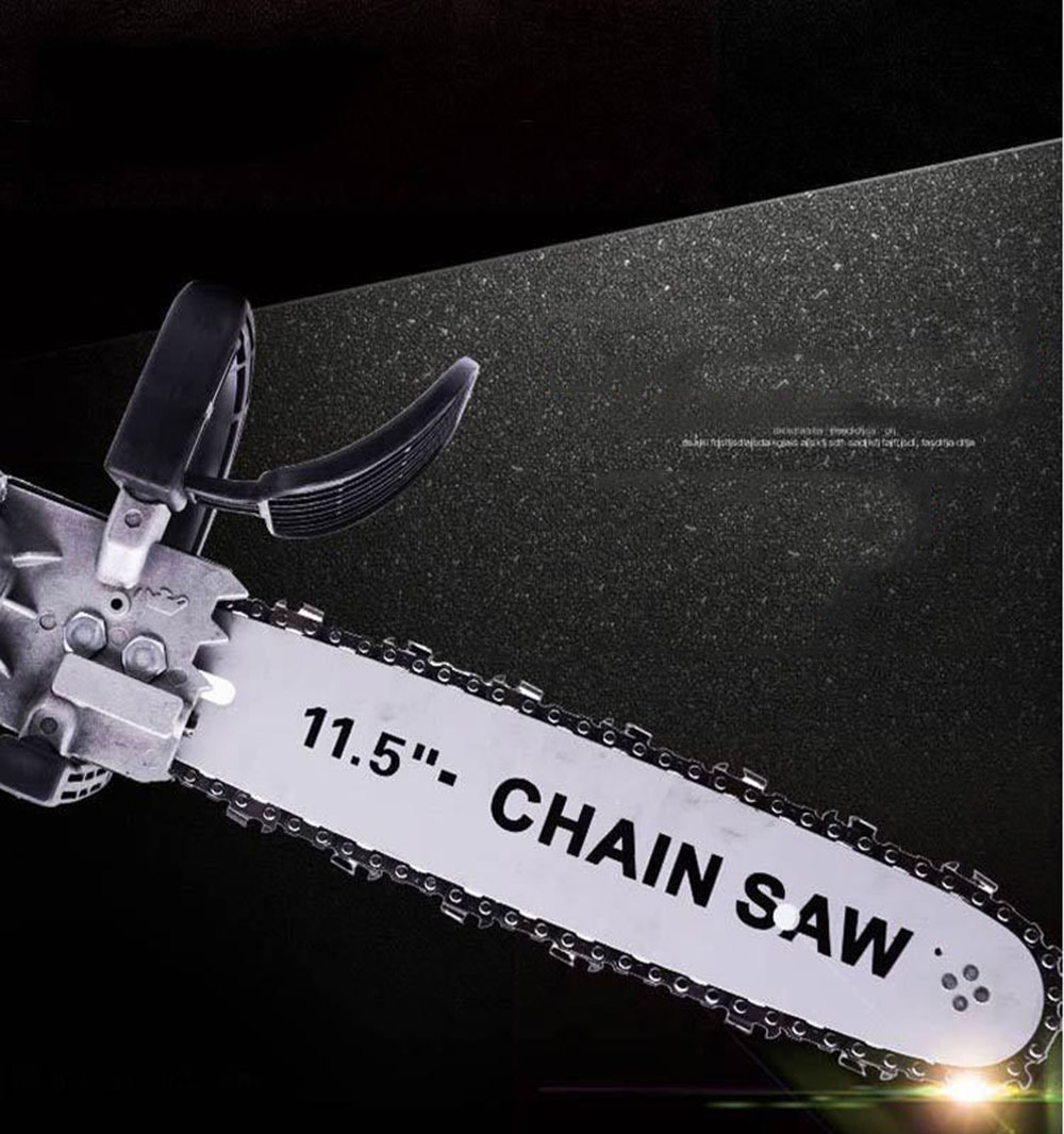Tools : Portable Multipurpose Household DIY Electric Chain Saw Chain Chainsaw Stand Converter Industrial Polisher Modified Wood Cut Tool