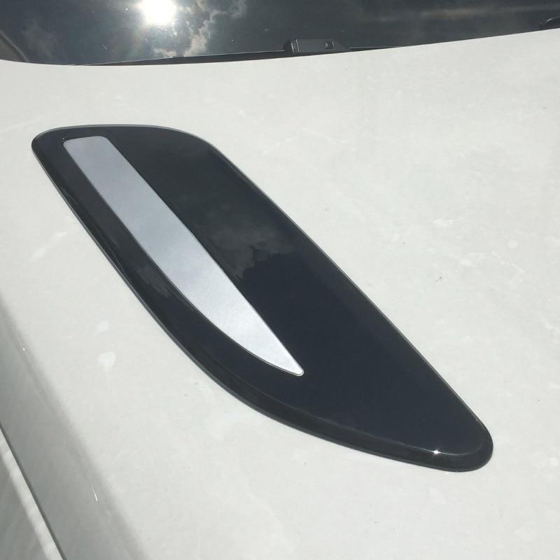 Per Range Rover Velar 2017 2018 Accessori per Auto ABS Chrome Hood Air Vent Uscita Ala Trim 2 pcs