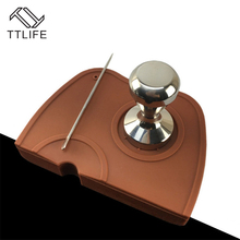 TTLIFE L Silicone Non-Slip Coffee Tamper Mat Holder Espresso Maker Support Base Flexible Corner Pad Tools