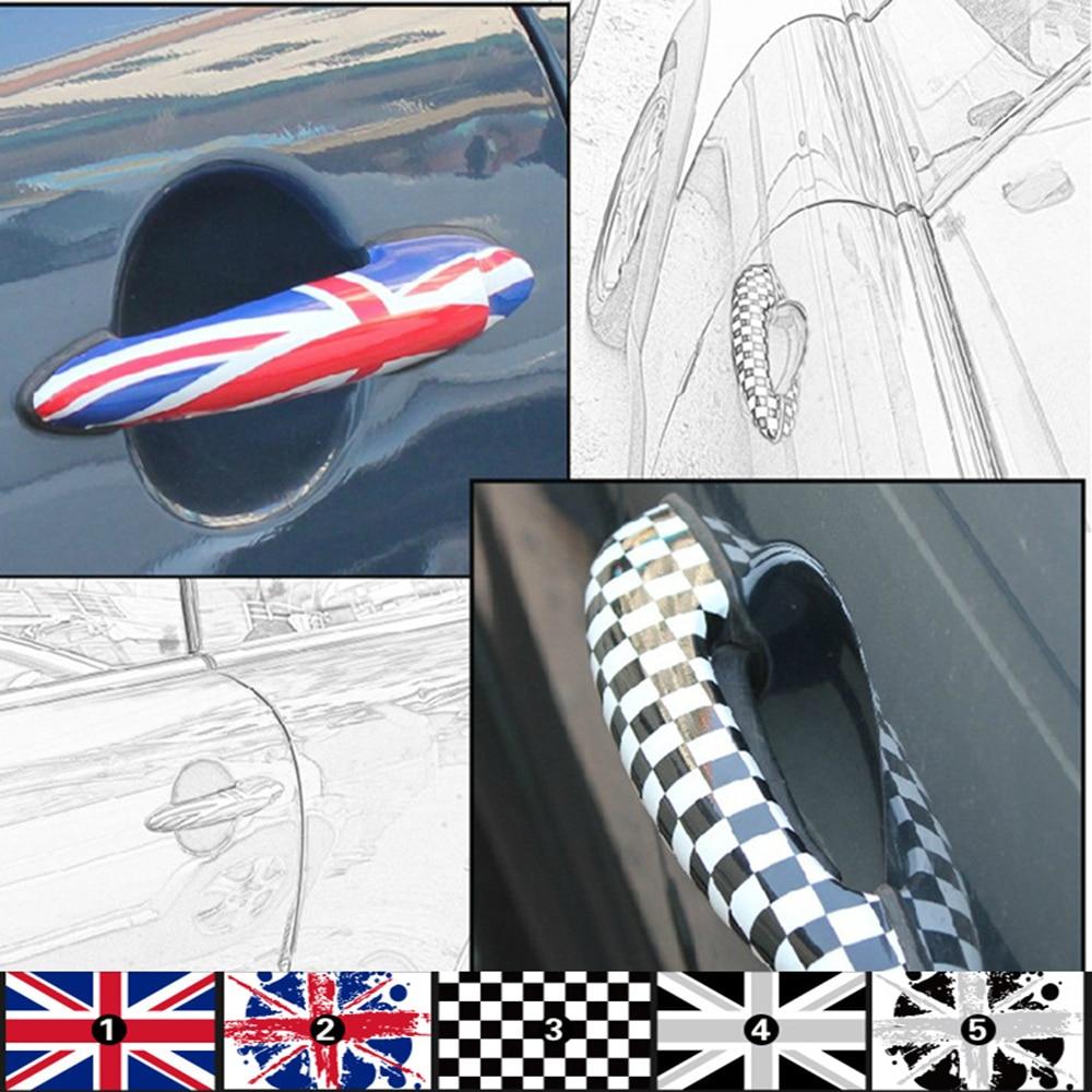 Aliauto 2 x bil dörrhandtag klistermärke och dekaler för BMW MINI COOPER Countryman R50 R52 R53 R55 R56 R57 R58 R59 R60 R61 R62
