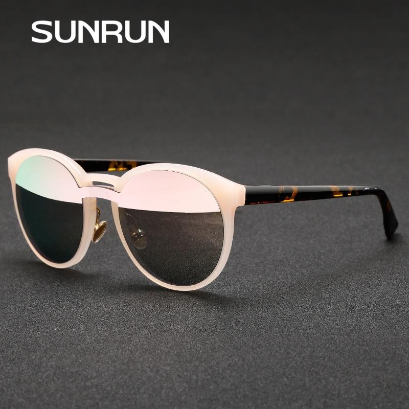 66fad41a92ac5 SUNRUN Nova Rodada de Grandes Dimensões Do Vintage Óculos De Sol Das  Mulheres Da Marca do Desenhador 2017 Óculos De Sol Dos Homens rodada retro  óculos de ...