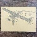 2017 aviación Avión Vintage Poster HD Bar/cafe Decoración Del Hogar artesanías Pared salón Bar Cafetería Pintura de impresión 42x30 cm ZIP-B014
