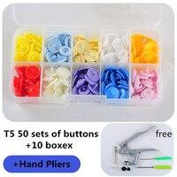 Пресс-плоскогубцы инструменты для T3 T5 T8 Kam кнопка защелки крепеж плоскогубцы 10 boxex 50 наборов T5 пластиковая Смола пресс-шпилька ткань пеленки