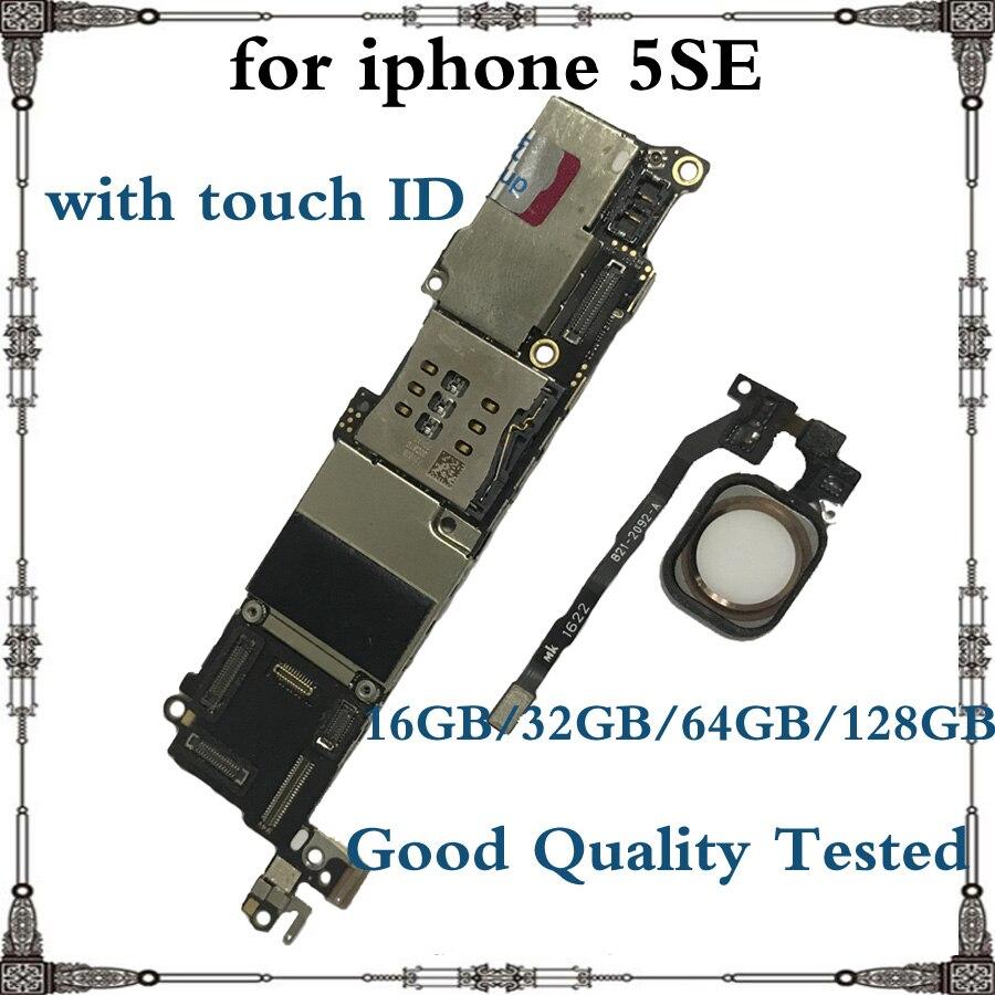 Оригинальная материнская плата для iphone SE, 16 ГБ, 32 ГБ, 64 ГБ, чистая iCloud разблокированная IOS системная плата для iphone 5SE с/без Touch ID|Антенны для мобильных телефонов| | АлиЭкспресс