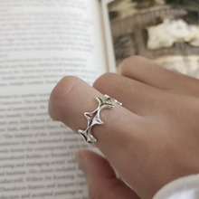 Amaiyllis s925 sterling silver stars Romantic Ring For Women Authentic Silver-Color Star Forever Love Finger Promise