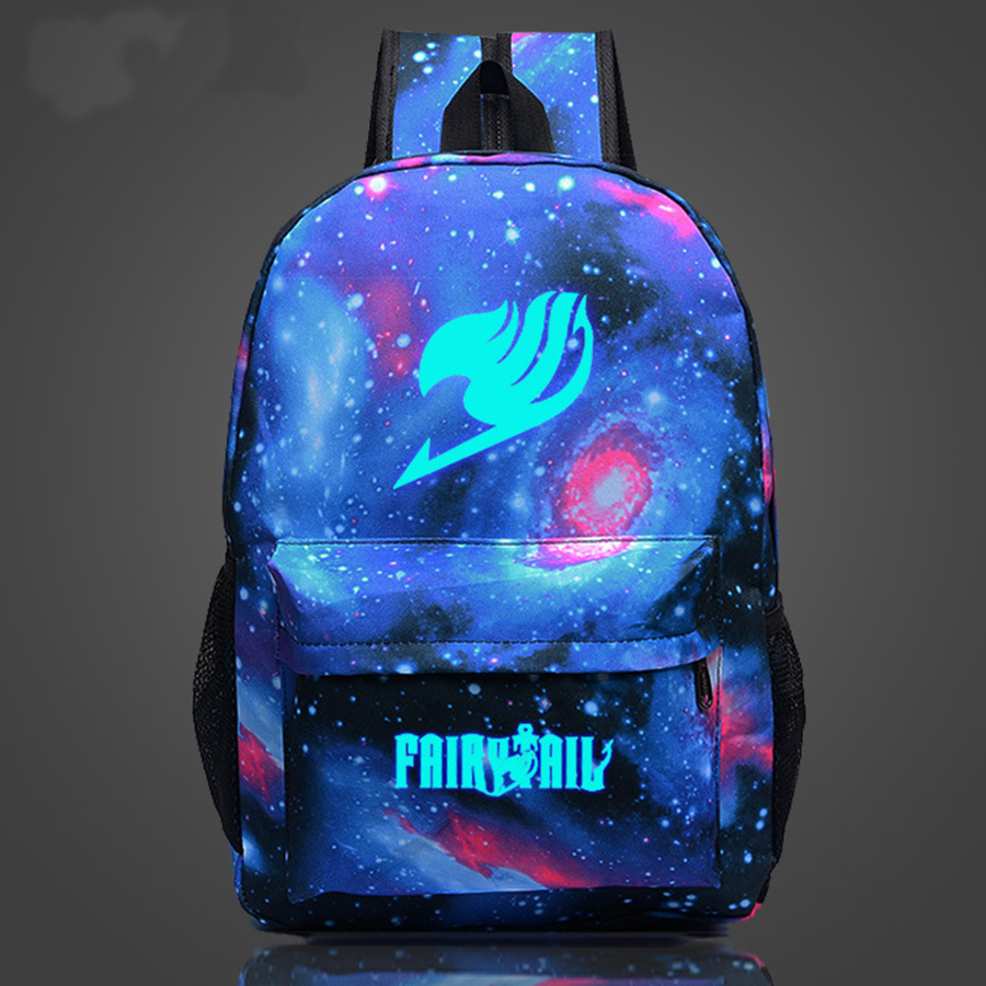 Anime Harajuku Fairy Tail Magic Star Guild logo zipper borsa a tracolla uomini zaini Naz zainoAnime Harajuku Fairy Tail Magic Star Guild logo zipper borsa a tracolla uomini zaini Naz zaino