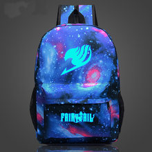 Anime Harajuku Fairy Tail Star Magic Guild โลโก้ซิปกระเป๋า schoolbags Naz rucksack(China)