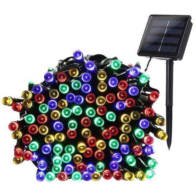 LederTEK Solar Christmas Lights 22m 200 LED Multi-color 8 Modes Solar Fairy String Lights For Outdoor Wedding Christmas Party