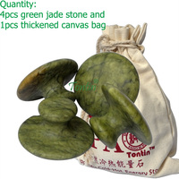 Mushroom Natural green jade body massager hot stone SPA body slimming relieving pain relaxation back Leg Pain Relieve Relief