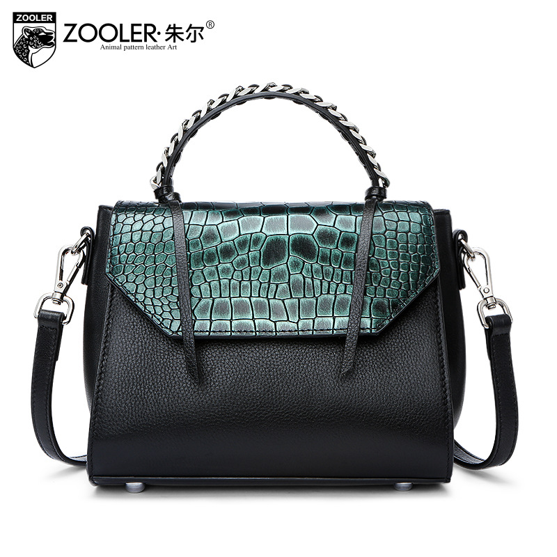 ZOOLER Women Genuine Leather Handbag 2018 Spring Fashion Crocodile Pattern Shoulder Bags Small Satchel Bag Ladies Patchwork Tote серверная платформа asus ts700 e8 ps4 ts700 e8 ps4
