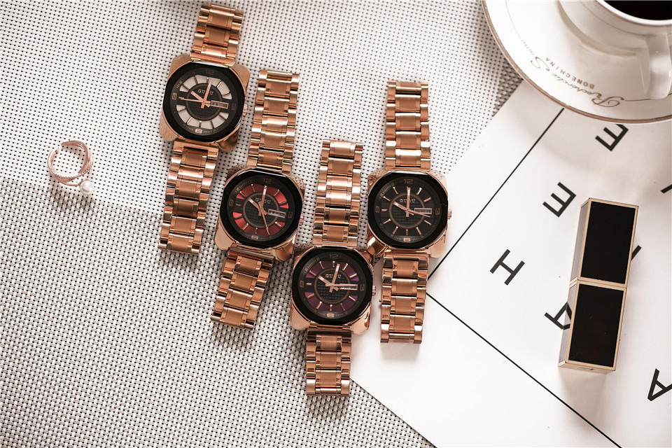 9a262d5bfa473 GUOU Mulheres Pulseira Relógios de Luxo de Moda À Prova D  Água Relógio de  Quartzo Relógio de Senhoras Vestido de Relógio de Pulso Com Calendário  relogio ...