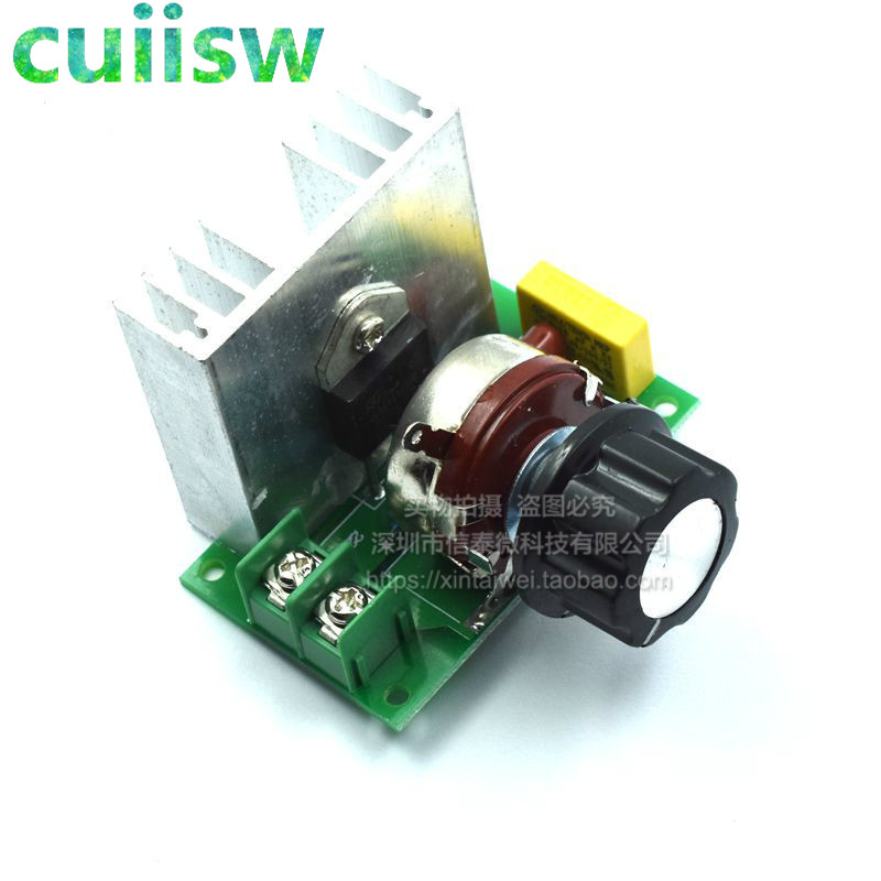 220V 4000W SCR Electric Voltage Speed Controller Regulator Switch Module Free Shipping&Wholesale