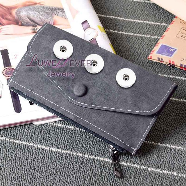 Aging Treatment Bag Snap Button Purse Pu leather Wallet Bags Charms  Bracelet Jewelry for women fit 18mm button 20cm 10cm  0.5cm bb2abd985