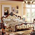 Modernen europäischen massivholz bett Mode Geschnitzt 1 8 mt bett französisch schlafzimmer möbel 85256-in Betten aus Möbel bei