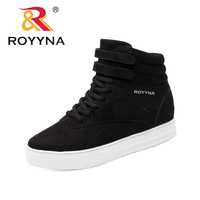 ROYYNA New Arrival Popular Style Women Boots Flock Women Winter Shoes Lace Up Lady Ankle Boots