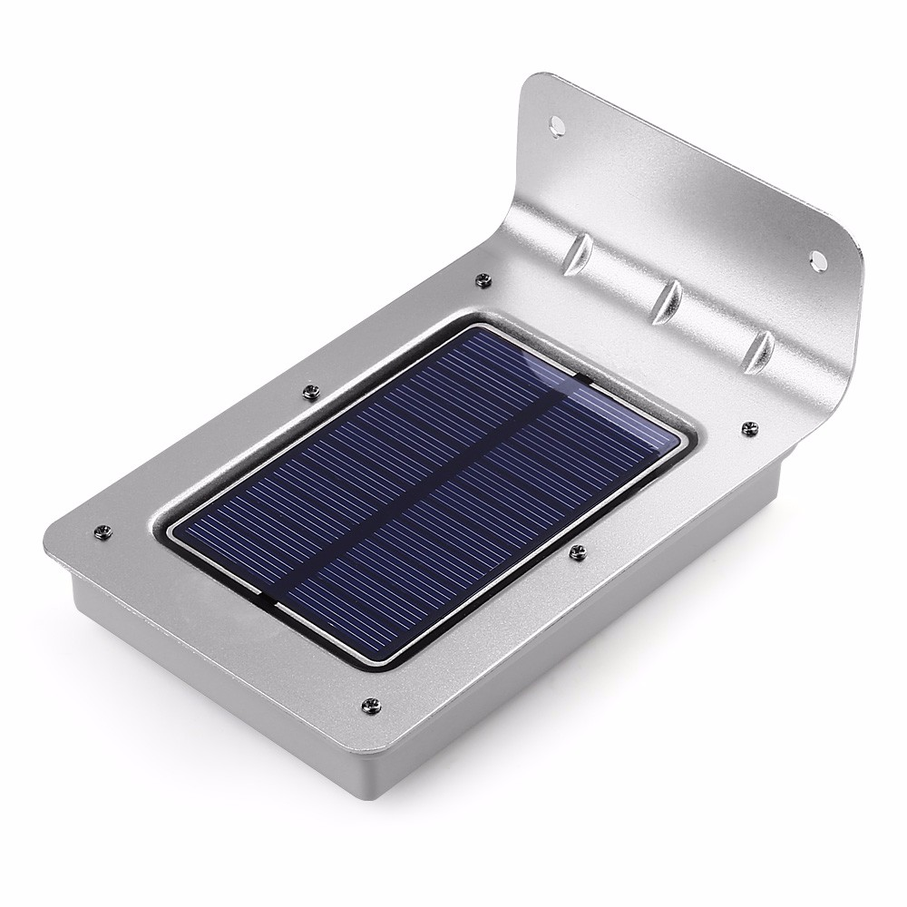 new 16 led solar light outdoor wall lamp wireless pir motion sensor led solar lamp garden light. Black Bedroom Furniture Sets. Home Design Ideas