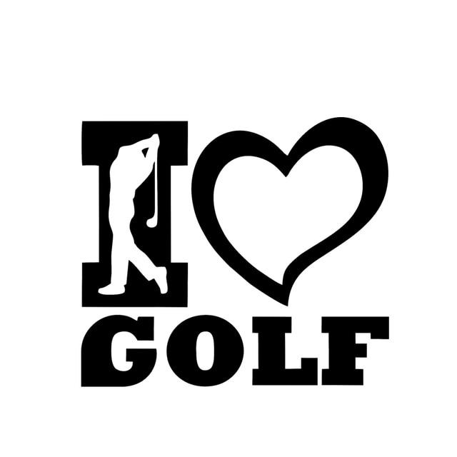 2017 hot sale i love golf sports stickers car window bumper vinyl decals dm