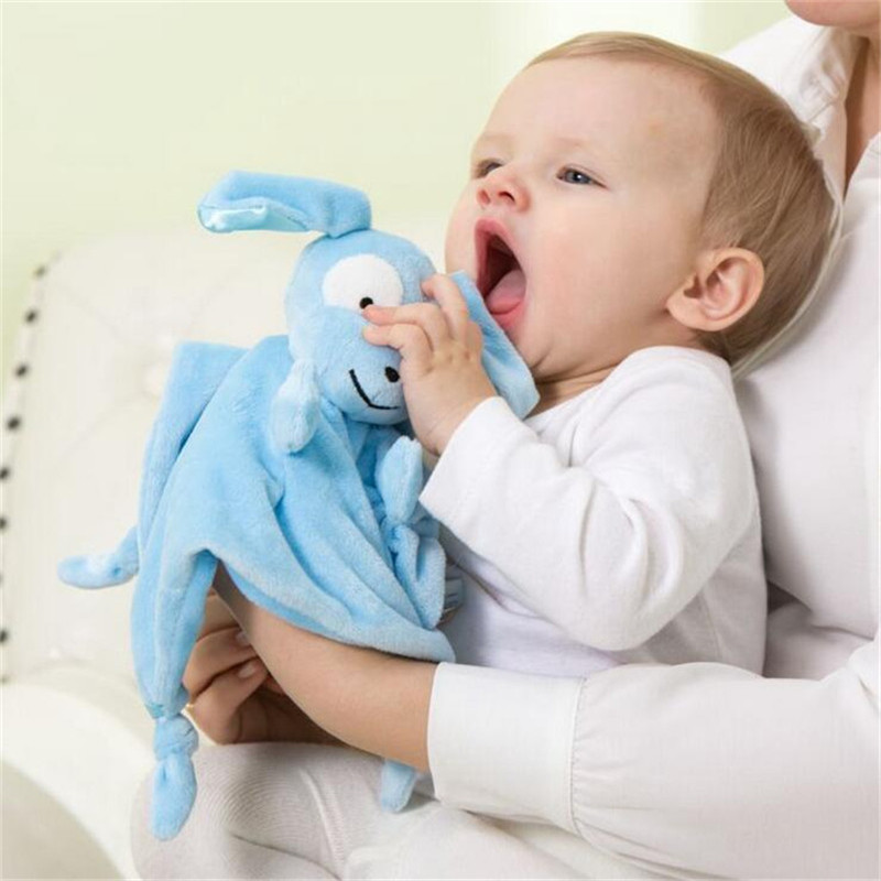 1Pcs Baby Super Soft Calm Wipes Teethers Sheep & dog Comforting Doll Plush Towel Multifunctional Grasping Children Rattle toys